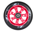 ENVY 7 Spoke Wheel Black on Red 110MM Pair