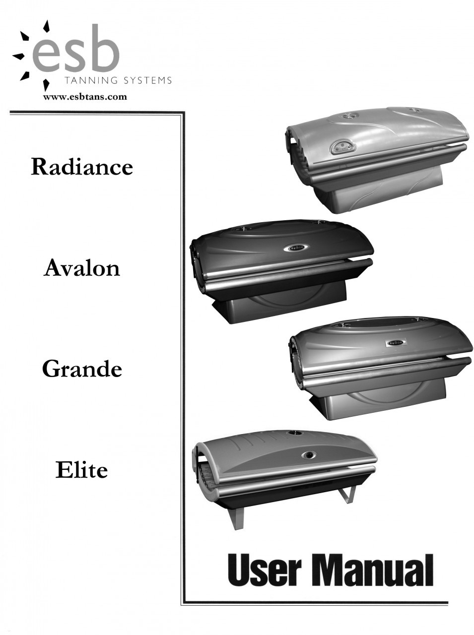 Esb Grande  Tanning Bed Manual