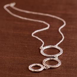 Inverse Halo Trio Necklace