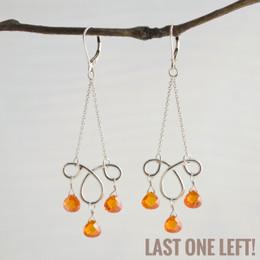CLEARANCE! Ms. Charming Orange CZ Earrings--50% OFF