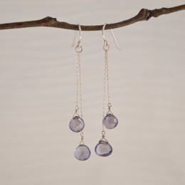 CLEARANCE! Iolite Double Drop Earrings--50% OFF