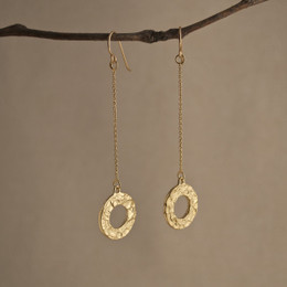 Gold Vermeil Looparella Long Drop Earrings