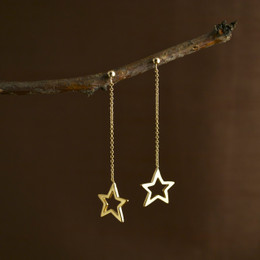 Gold Vermeil Mini Stardust Earrings