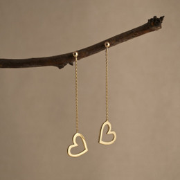 Gold Vermeil Mini Love Me Love Me Not Earrings-