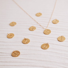 Gold Vermeil Initial Droplet Necklace