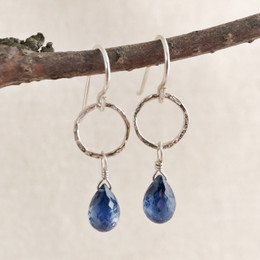 Kyanite Ringlet Droplet Earrings