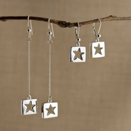 Stars for Squares Earrings