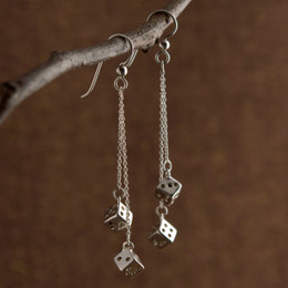 """Shorter Drops (1"""" & 1.5"""") with French Earwire with 3mm Ball Accent, Black Dots"""