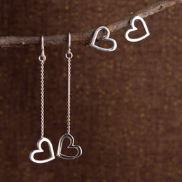 Mini Love Me Love Me Not Post, Droplet or Long Drop Earrings