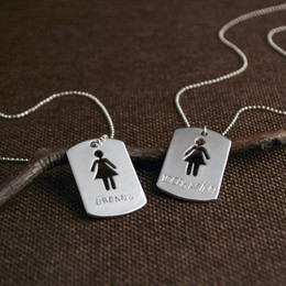 Customized Girl Tag Necklace