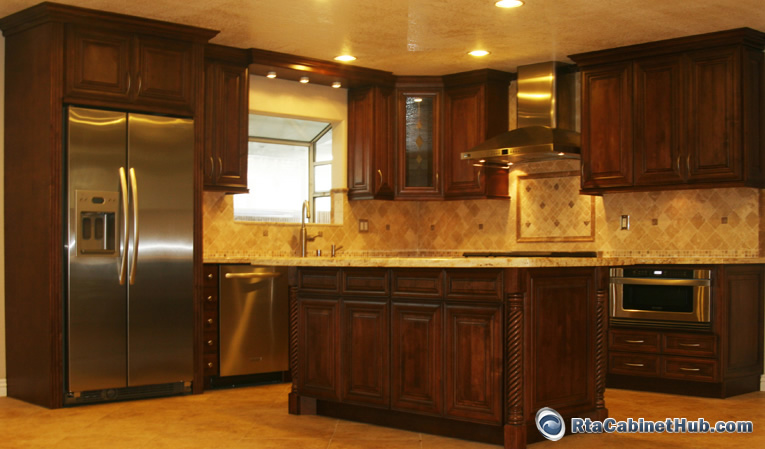 Interior Chocolate Glaze Kitchen Cabinets chocolate maple glaze rta cabinet hub java home kitchen