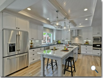 Classic White Shaker Assembled Kitchen Cabinets