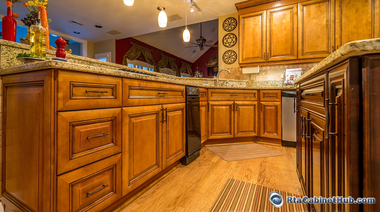 Kingston toffee assembled kitchen cabinets for Kitchen design kingston