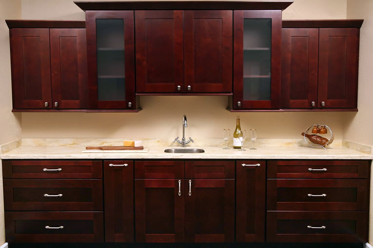 Kitchen Cabinet Set : Mocha Shaker Kitchen Cabinet Set ORTS - RTA Cabinet Hub