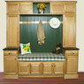 Classic Oak Assembled Kitchen Cabinet Set