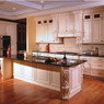 Cream Maple Glaze Assembled Kitchen Cabinet Set