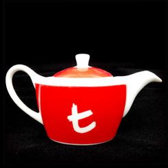 Cherry Red t-Series Teapot - 420ml