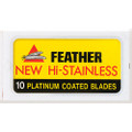 Feather 81-S New Hi-Stainless Double Edge Blade, 1 dispenser (1 x 10 blades/dispenser)