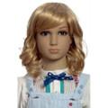 SHW-9 medium wavy blonde synthetic hair wig