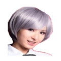 CHW-2 Ash Grey Short Cosplay Hair Wig
