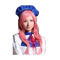CHW-16 Pink Long Cosplay Hair Wig