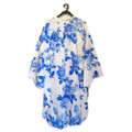 MH 2786 Blue floral sleeved cape
