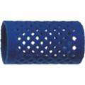 Blue flocked curler 36x65mm 12pc/pk