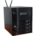 High Speed 4-bay Network Area Storage NAS built on Standard PC motherboard and LINUX-UBUNTU server and desktop client with remote graphical desktop capabilities