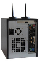 KS-NAS-120-i7_0T1 Rear - High Speed 4-bay Network Area Storage NAS built on Standard PC motherboard and LINUX-UBUNTU server and desktop client with remote graphical desktop capabilities