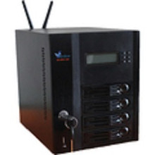 "KS-NAS-120-i25_0T1 (Front) NAS, 4x 3.5"" bay (underpopulated), Intel C2550 quad-core, 8GB DRAM, Internal 1TB drive ,2x Gbit LAN , eSATA, VGA monito"