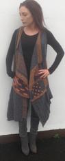 Drinnsbay Sleeveless Tweed Cardi