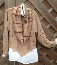 Camel/Choc with Cowl long