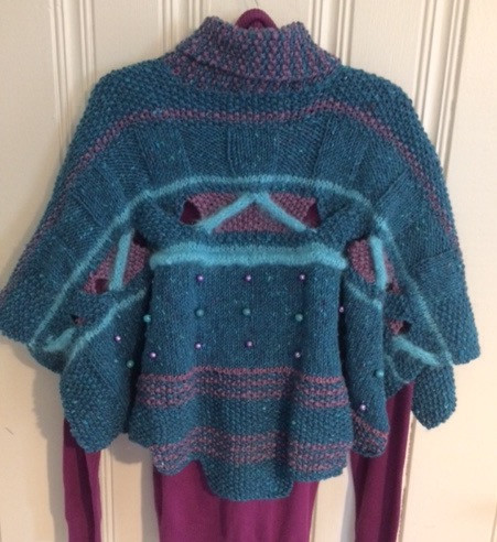 Turquoise/Grape/Mohair Back