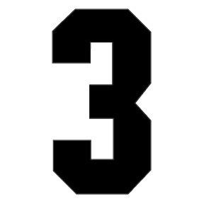 3 Block Number - Pet Paint