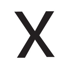 X Block Letter