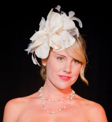 Cream/White Headpiece