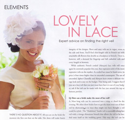 Exquisite Weddings Magazine (inside photo)