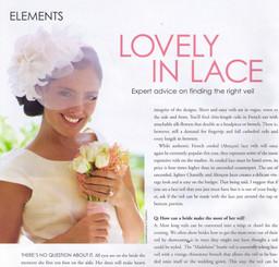 Exquisite Weddings Magazine (inside photo)