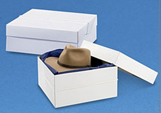 Square Hat Box with Cord
