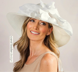 Hampton's Hat Ivory/White