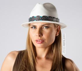 """Silver Charm"" Panama Hat"