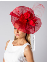 Wave headpiece in Red