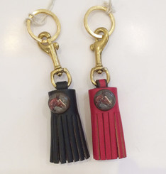 Leather  Key Fob with tassle