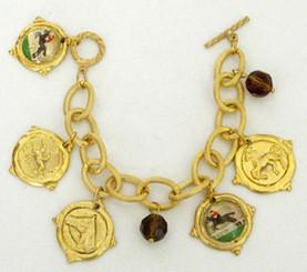 Rosette charm bracelet