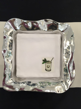 Mint Julep cocktail napkins. (holder sold seperately).