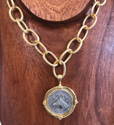 French Franc 2 tone necklace