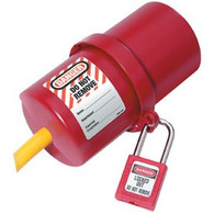 Large Rotating Electrical Plug Lockout