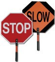 "18"" Non Reflective Stop/Slow Sign"