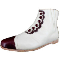 Bone with Maroon Trim