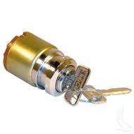 Golf Cart Ignition Key Switch, 4 Terminal, Club Car Gas 84-95
